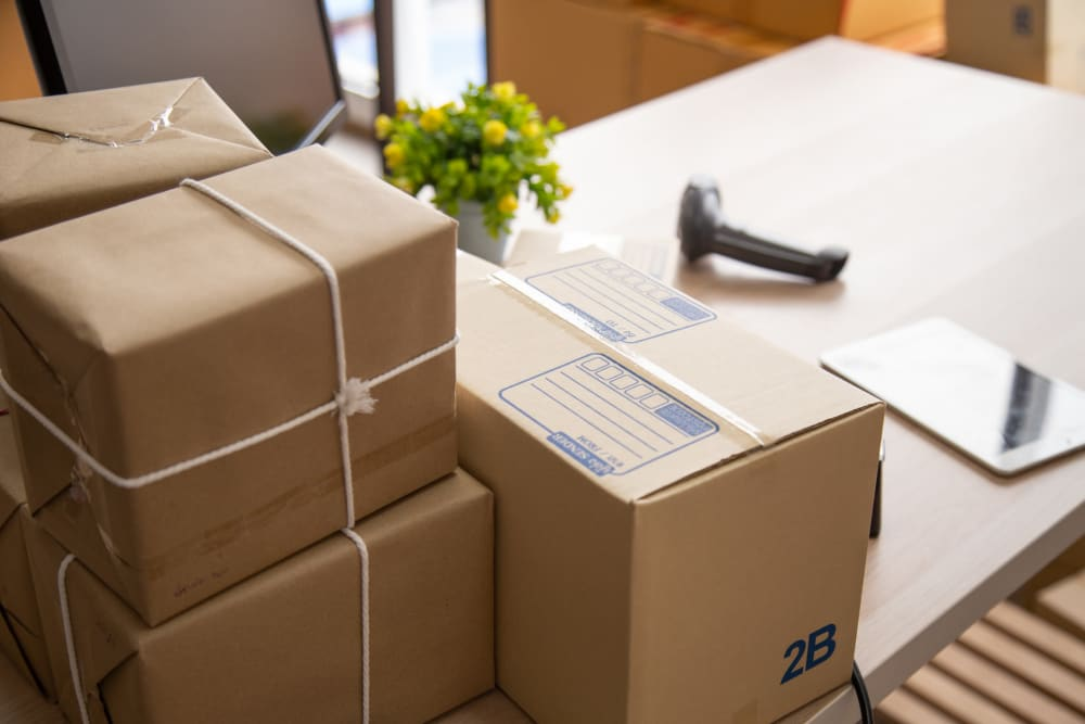 Packages delivered to Woodlands Self Storage in Tulsa, Oklahoma