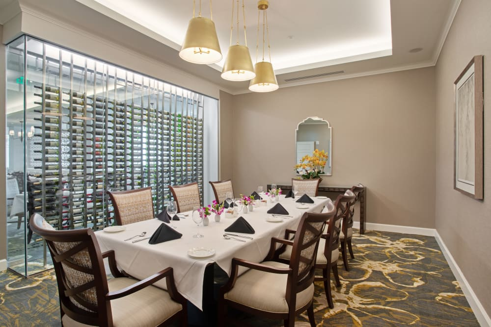 Private dining room at The Village of Southampton