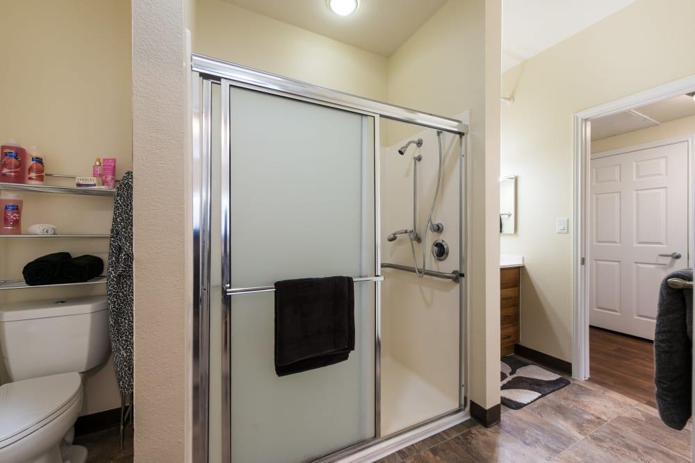 Bathroom at Waterview Court in Shreveport, Louisiana.