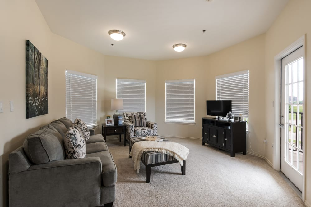 A living room at Waterview Court in Shreveport, Louisiana