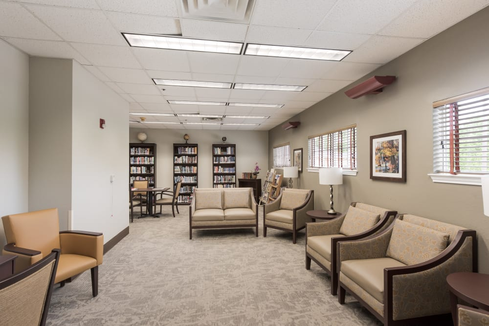 Seating area at Waterview Court in Shreveport, Louisiana.