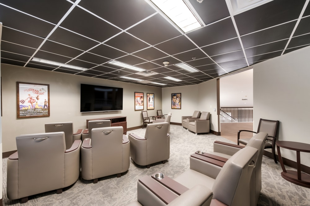 Movie theater at Waterview Court in Shreveport, Louisiana.