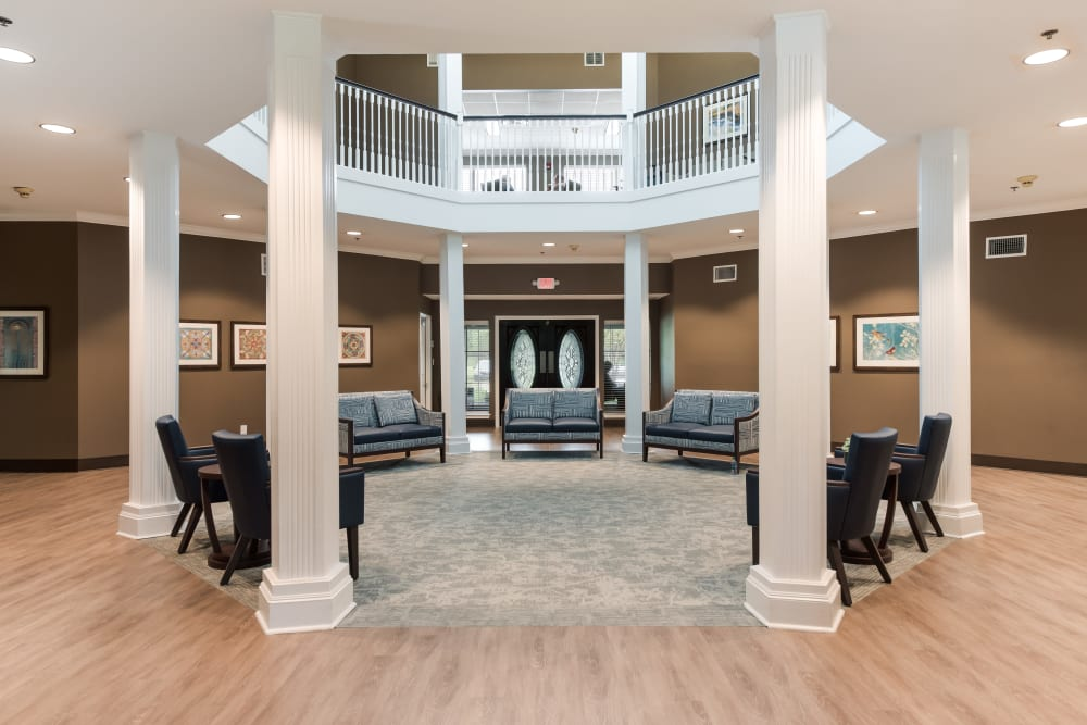 The lobby at Waterview Court across the street in Shreveport, Louisiana.