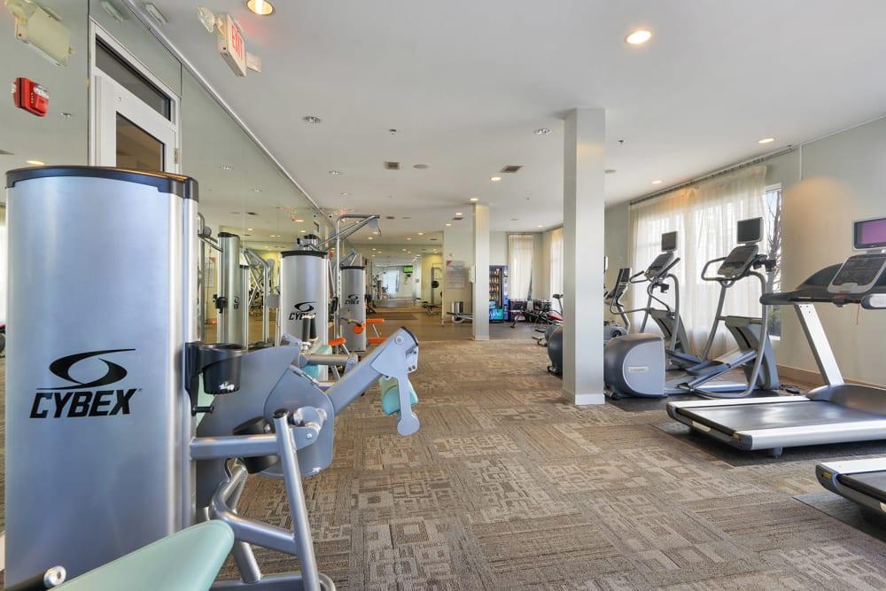 Fitness center for residents at Optimist Lofts in Atlanta, Georgia