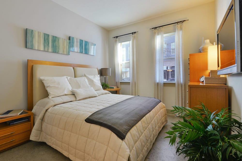 Large bedroom at Optimist Lofts in Atlanta, Georgia
