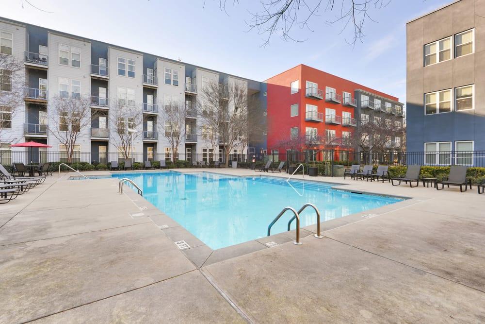 Staycation-Worthy Pool at Optimist Lofts in Atlanta, Georgia