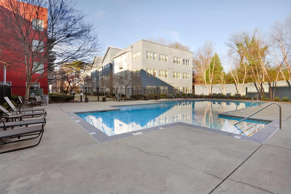 Outdoor swimming pool at Optimist Lofts in Atlanta, Georgia
