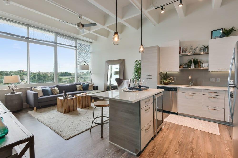 Open concept flats at Altitude in Atlanta, Georgia