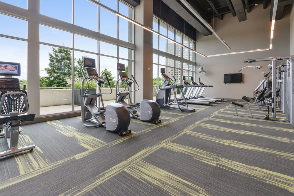 Fully equipped fitness center at Altitude in Atlanta, Georgia