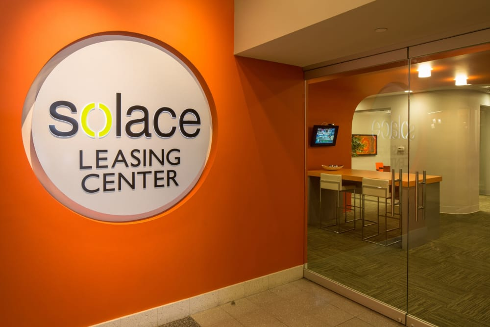 Leasing center at Solace on Peachtree in Atlanta, Georgia