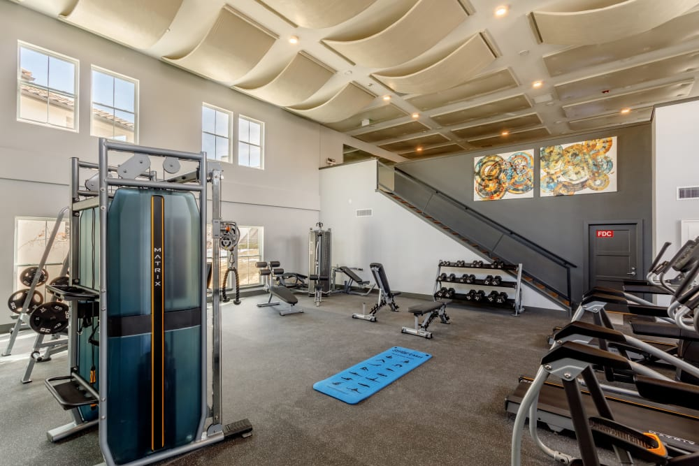 A fitness facility at Altitude Westminster in Westminster, Colorado