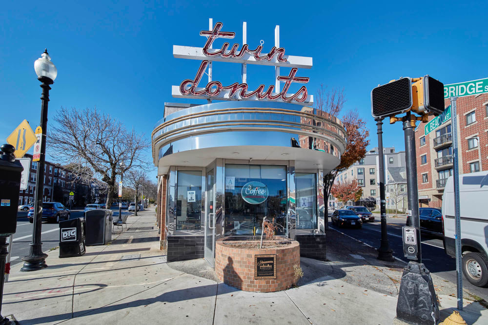 Twin Donuts in Allston, Massachusetts near Arthaus Apartments