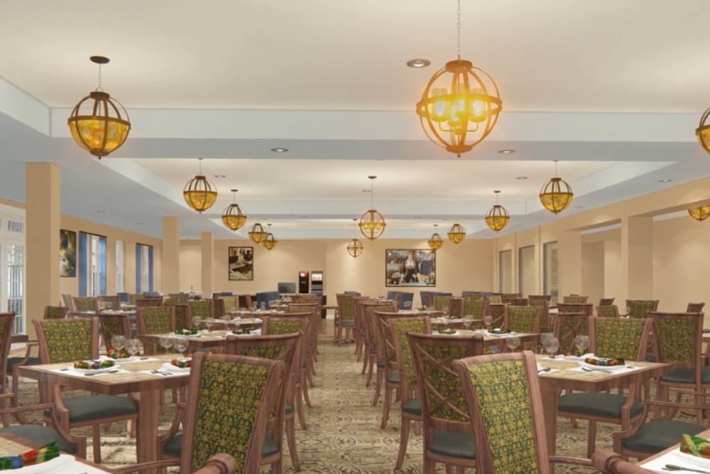 Dining room at at Harmony at Hershey in Hershey, Pennsylvania