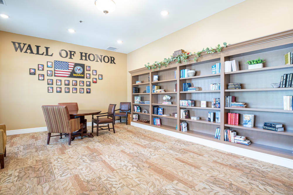 Harmony Senior Services Library with Wall of Honor