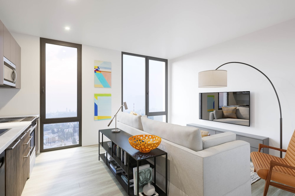 Great city views from your apartment at Arthaus Apartments in Allston, Massachusetts