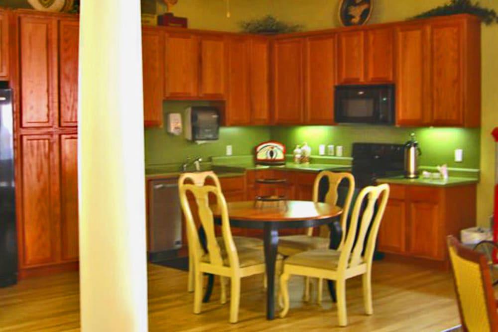 Community kitchen at Grand Villa of Palm Coast in Palm Coast, Florida.