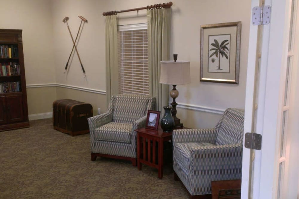 Common room seating at Grand Villa of Palm Coast in Palm Coast, Florida.