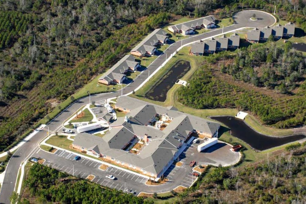 Aerial view of Grand Villa of Palm Coast in Palm Coast, Florida.