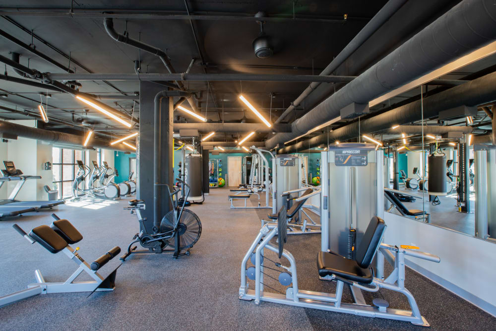 Fitness center for residents at 511 Meeting in Charleston, South Carolina