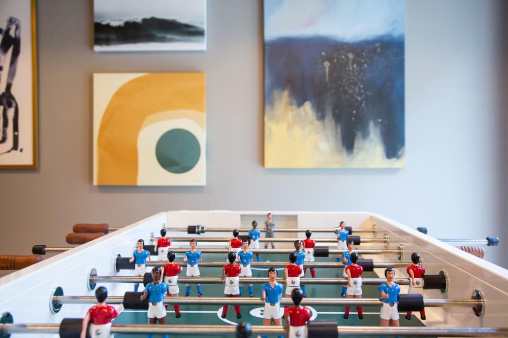 Foosball table at 511 Meeting in Charleston, South Carolina