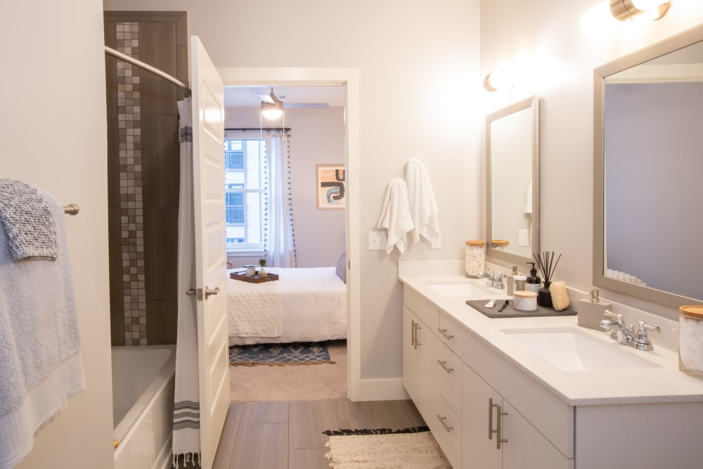 Bright, spacious bathroom at 511 Meeting in Charleston, South Carolina