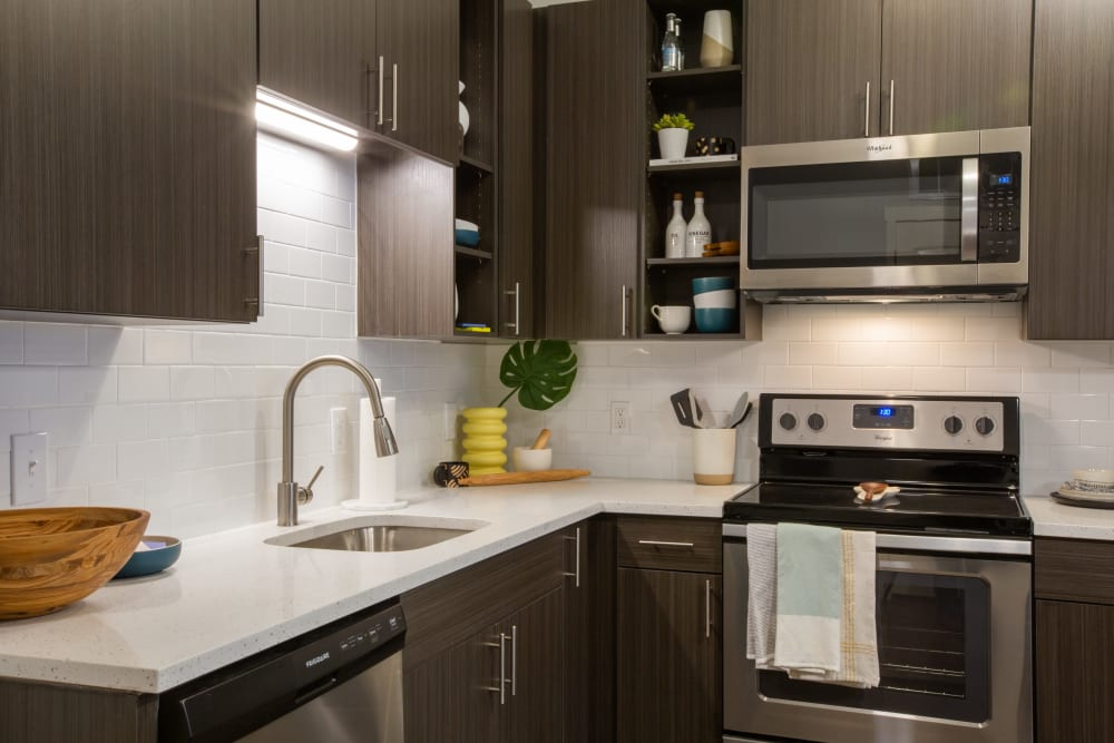 Kitchen with granite counters at 511 Meeting in Charleston, South Carolina