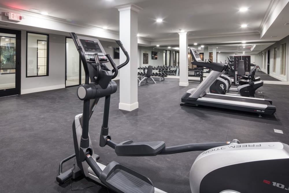 Fitness equipment at The Blake at The Grove in Baton Rouge, Louisiana