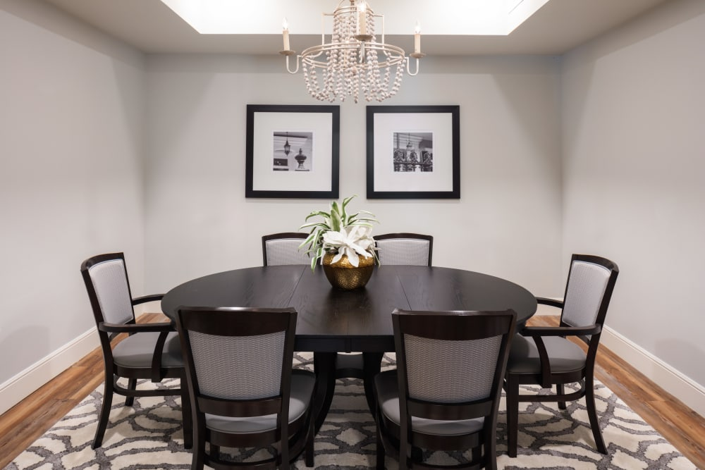 Private dining room at The Blake at The Grove in Baton Rouge, Louisiana