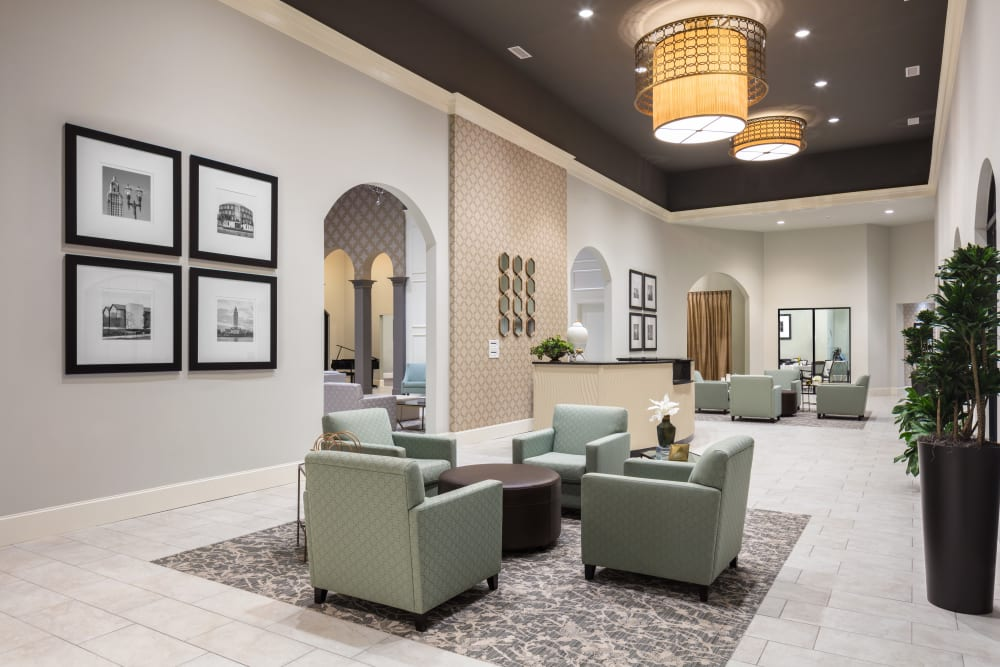 Beautiful common area at The Blake at The Grove in Baton Rouge, Louisiana