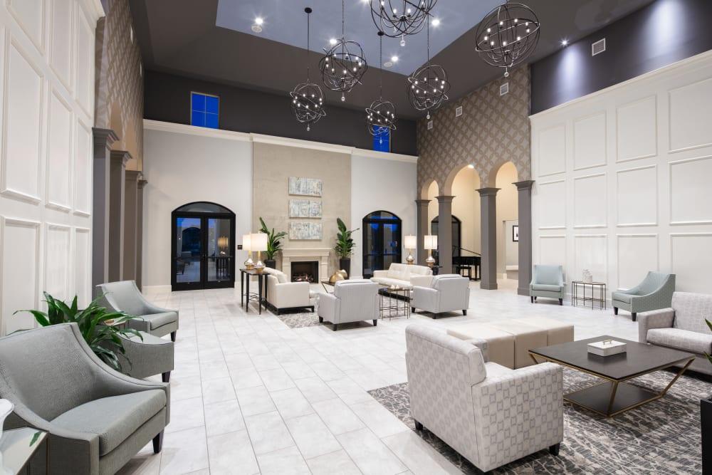 Beautiful lobby at The Blake at The Grove in Baton Rouge, Louisiana
