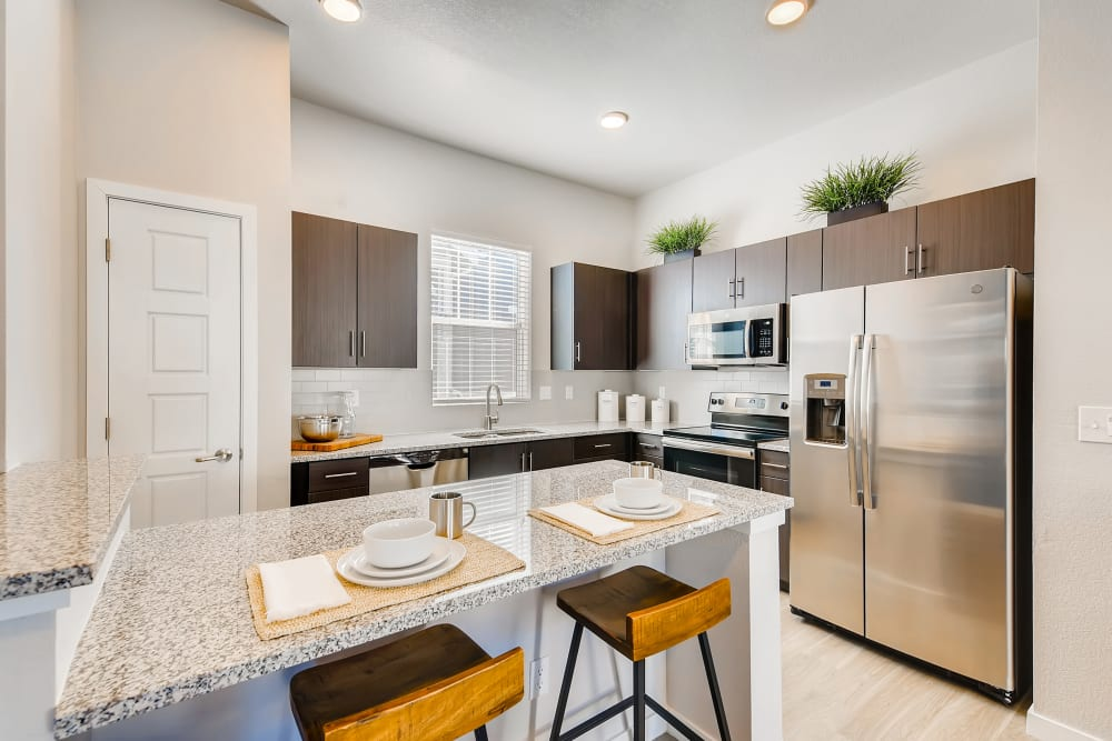 Kitchen at Avilla Prairie Center in Brighton, Colorado