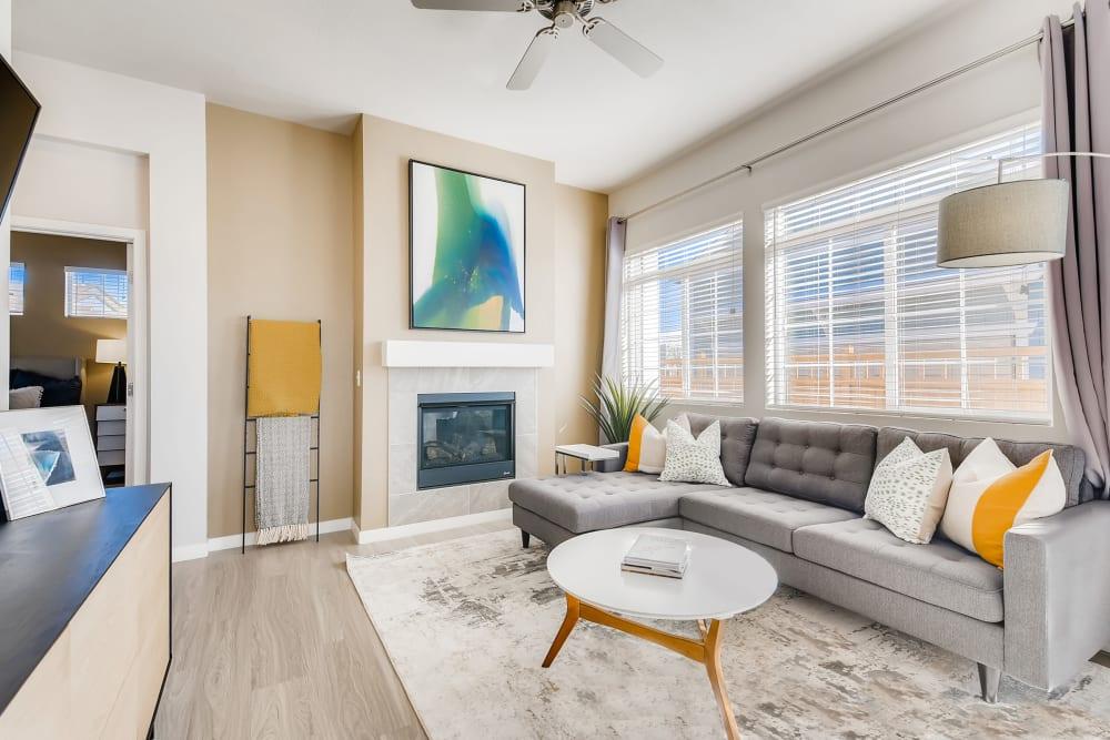 Living room at Avilla Prairie Center in Brighton, Colorado