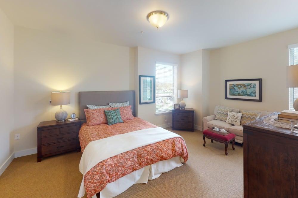 Beautiful bedroom at Harmony at Oakbrooke in Chesapeake, Virginia