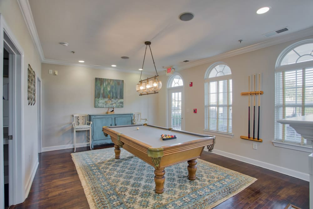 Billiards table in Atkins Circle Apartments & Townhomes club house in Charlotte, North Carolina