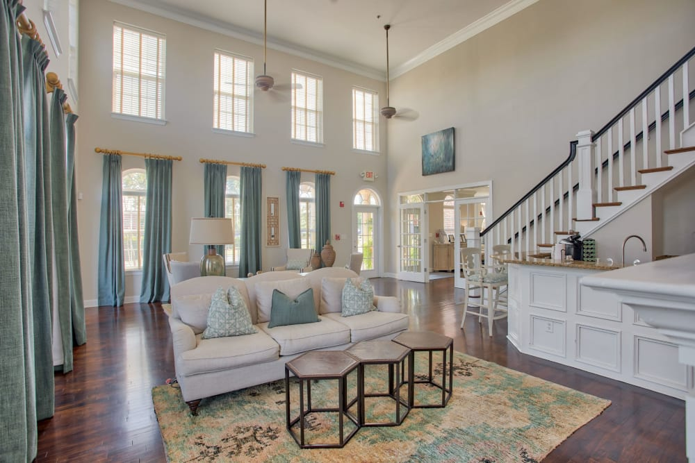 First floor in the club house at Atkins Circle Apartments & Townhomes in Charlotte, North Carolina
