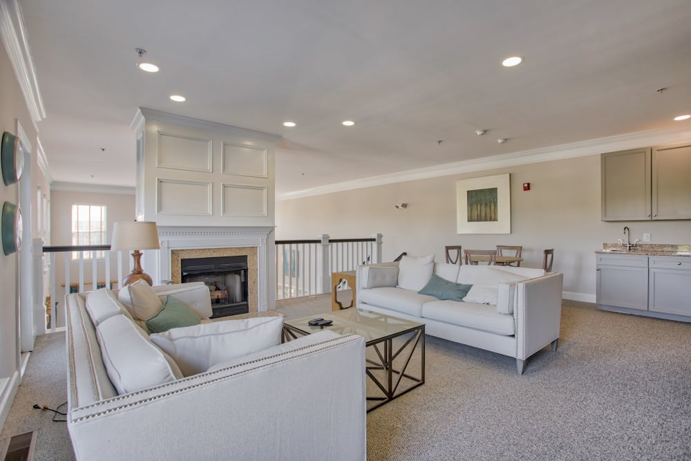 Upstairs in clubhouse at Atkins Circle Apartments & Townhomes in Charlotte, North Carolina