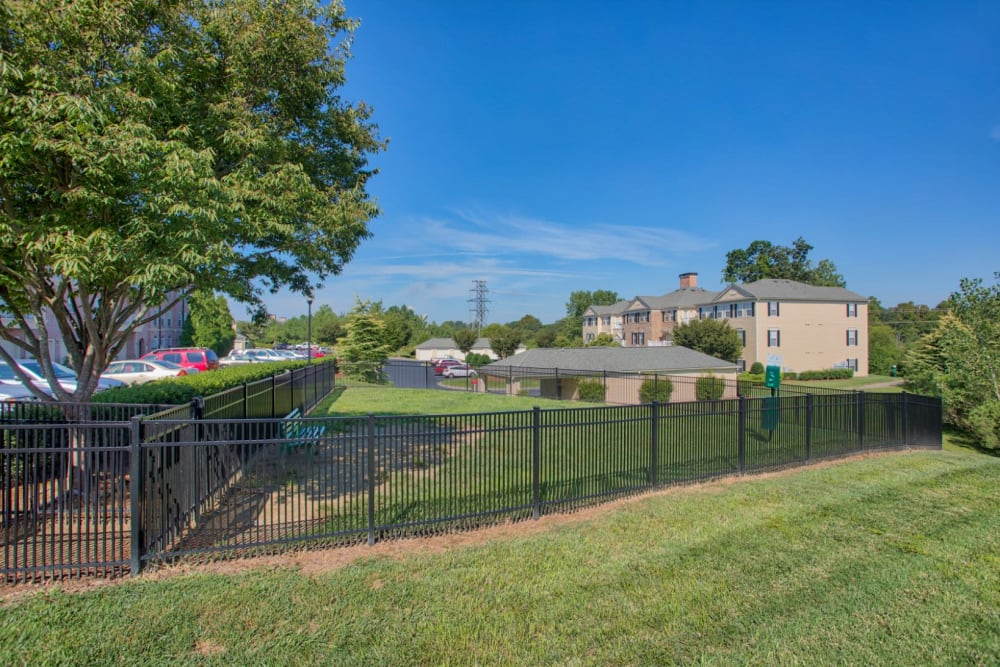 Dog park for residents at Atkins Circle Apartments & Townhomes in Charlotte, North Carolina