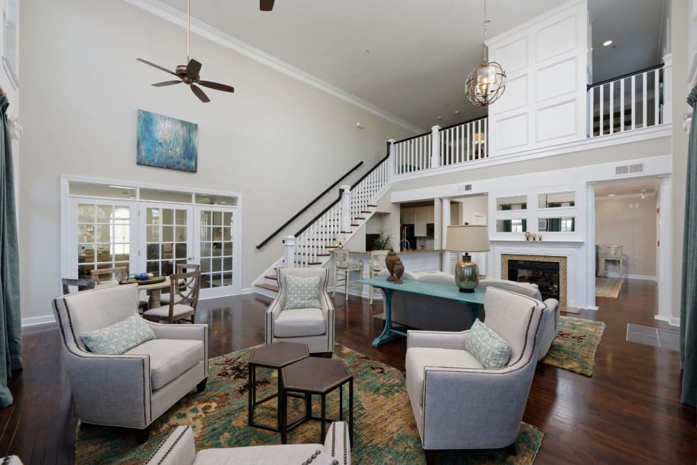 Furnished living room at Atkins Circle Apartments & Townhomes in Charlotte, North Carolina