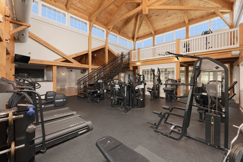 Indoor gym for residents at Atkins Circle Apartments & Townhomes in Charlotte, North Carolina