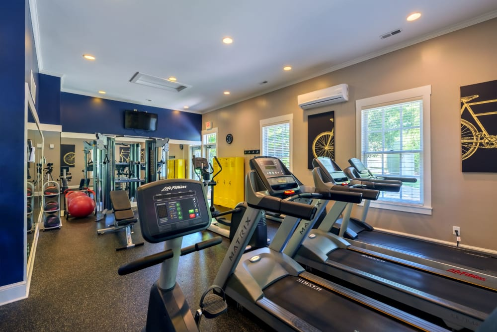 Community gym at Christopher Wren Apartments & Townhomes in Wexford, Pennsylvania