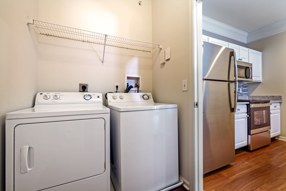 Laundry facilities in home at Christopher Wren Apartments & Townhomes in Wexford, Pennsylvania