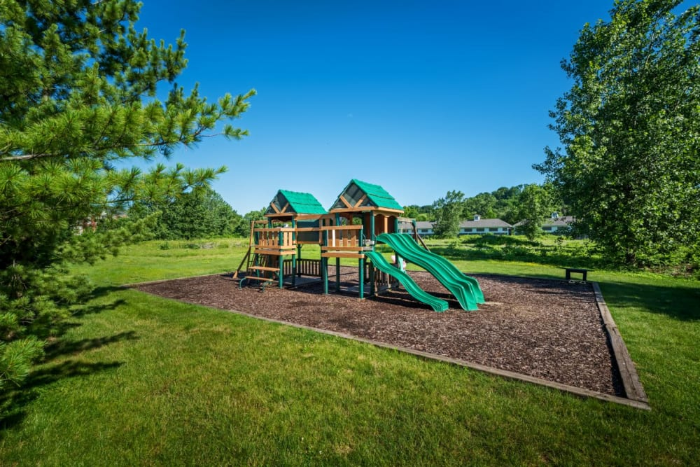 Community playground and park at The Docks Apartments & Townhomes in Pittsburgh, Pennsylvania