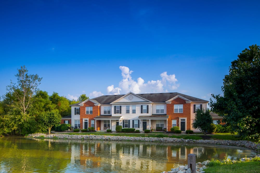 Across the pond from The Preserve at Beckett Ridge Apartments & Townhomes in West Chester, Ohio