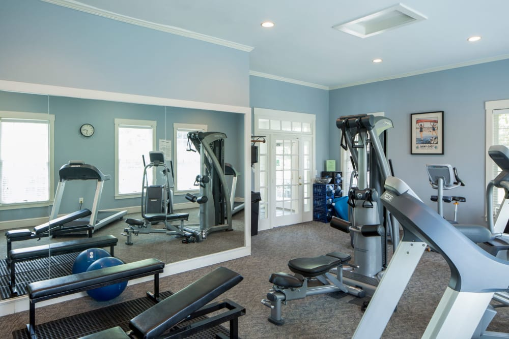 Gym at The Preserve at Beckett Ridge Apartments & Townhomes in West Chester, Ohio
