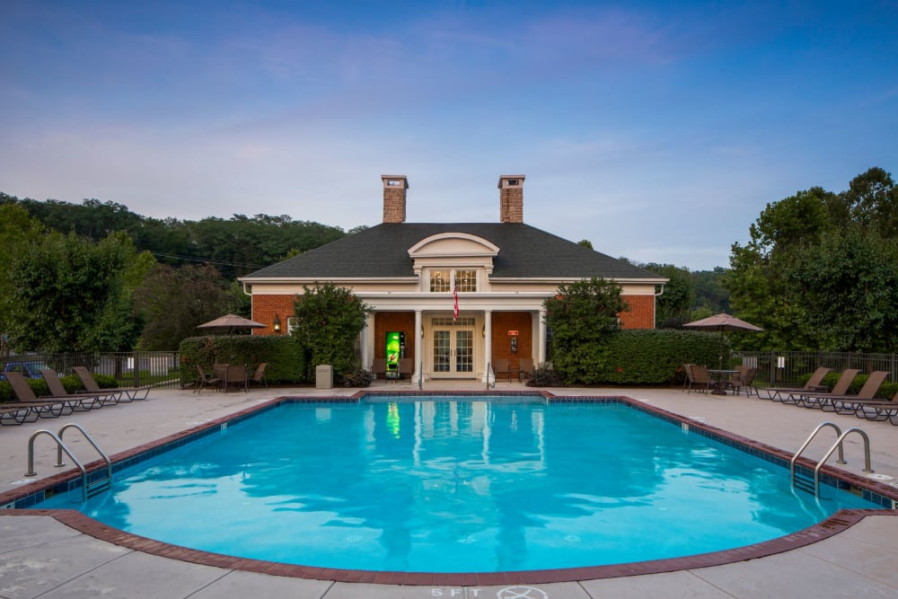 Refreshing pool and clubhouse at The Preserve at Beckett Ridge Apartments & Townhomes in West Chester, Ohio