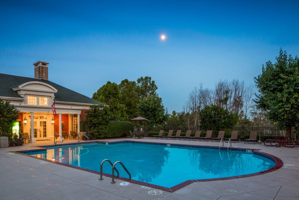 Pool and clubhouse at The Preserve at Beckett Ridge Apartments & Townhomes in West Chester, Ohio