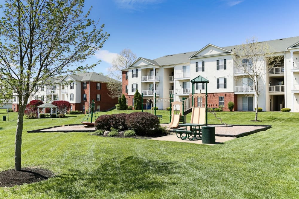 Small park at The Preserve at Beckett Ridge Apartments & Townhomes in West Chester, Ohio