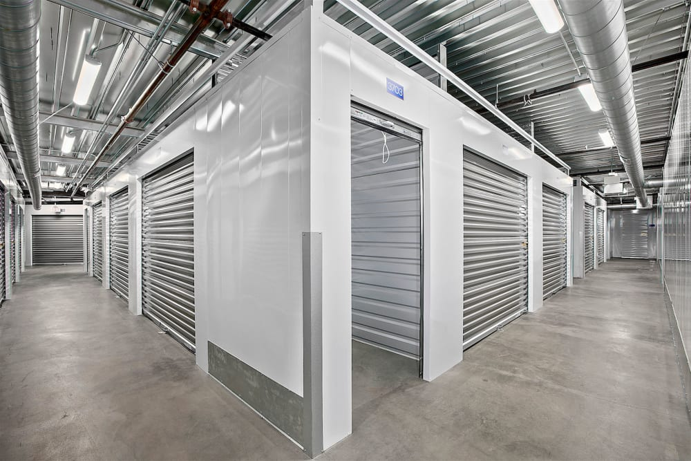 Indoor storage units at Pac-It-Away Storage in San Diego, California