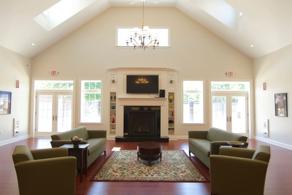 Community room at Park Village West in Westborough, Massachusetts