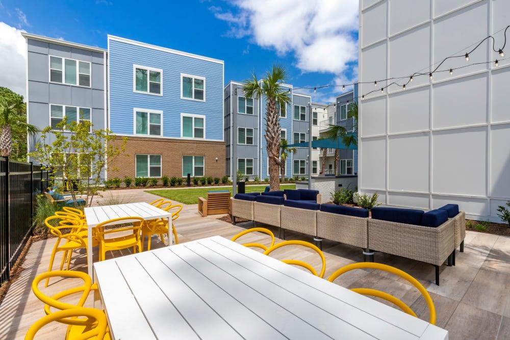 Rooftop hangout spot at UNCOMMON Wilmington in Wilmington, North Carolina